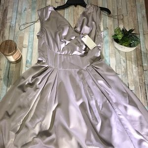 NEW! Emily and Fin elegant silver dress NWT sz med